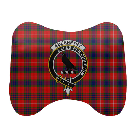 Abernethy Tartan Head Cushion Clan Badge scottishclans.co