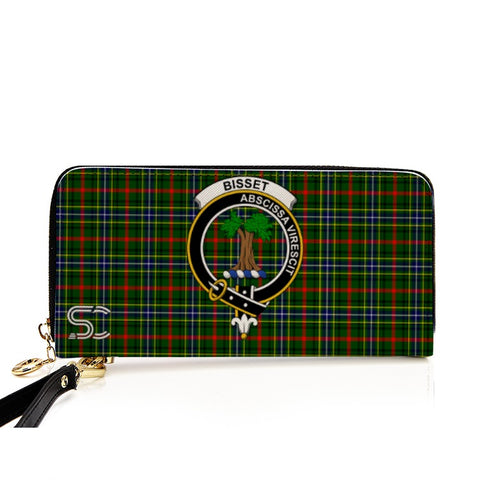 Image of Bisset Crest Tartan Zipper Wallet