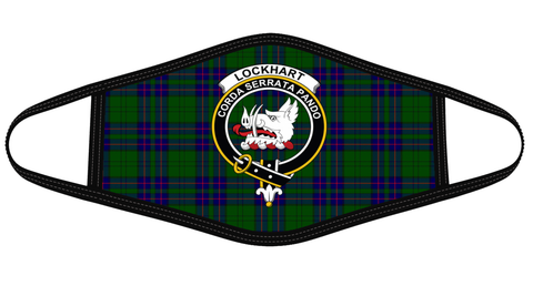 Lockhart Modern Clan badge Tartan Mask K7