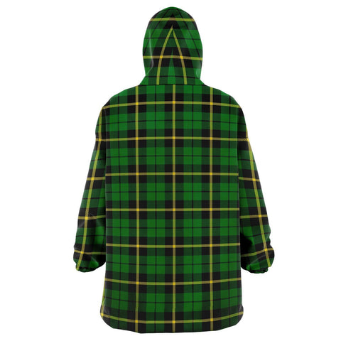 Wallace Hunting - Green Snug Hoodie - Unisex Tartan Plaid Back