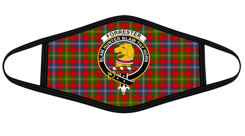 Forrester Clan badge Tartan Mask K7