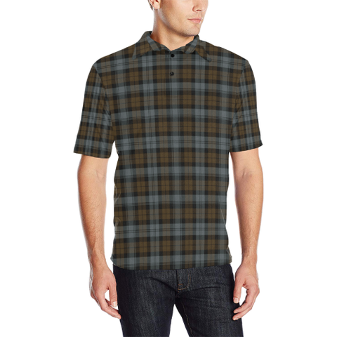 BlackWatch Weathered Tartan Polo Shirt