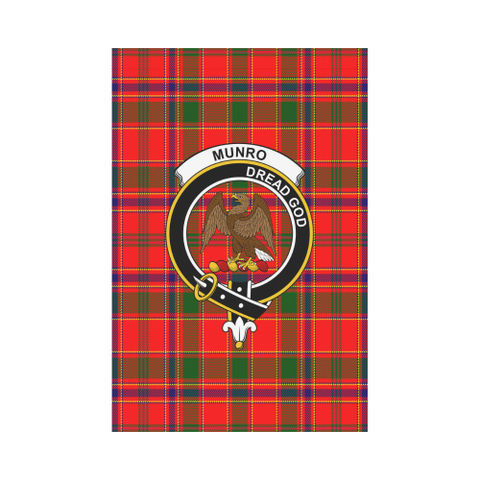 Munro Modern Tartan Flag Clan Badge K7