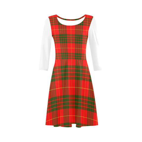 Cameron Modern Tartan 3/4 Sleeve Sundress | Exclusive Over 500 Clans