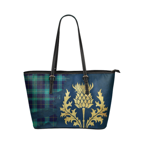 Mckerrell Tartan - Thistle Royal Leather Tote Bag