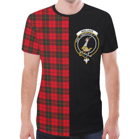 Image of Wallace Weathered T-shirt Half In Me | scottishclans.co