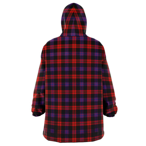 Brown Modern Snug Hoodie - Unisex Tartan Plaid Back