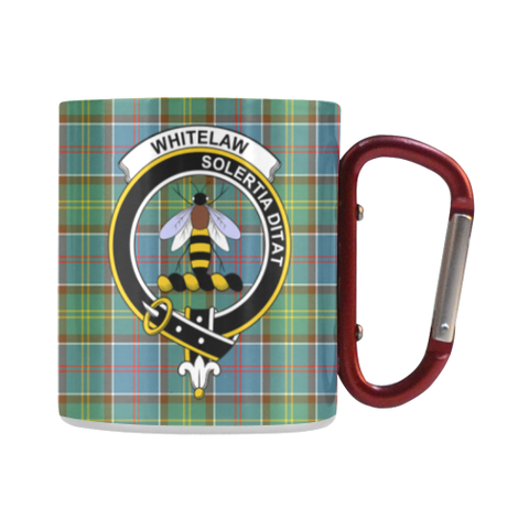 Image of Whitelaw District Tartan Mug Classic Insulated - Clan Badge | scottishclans.co
