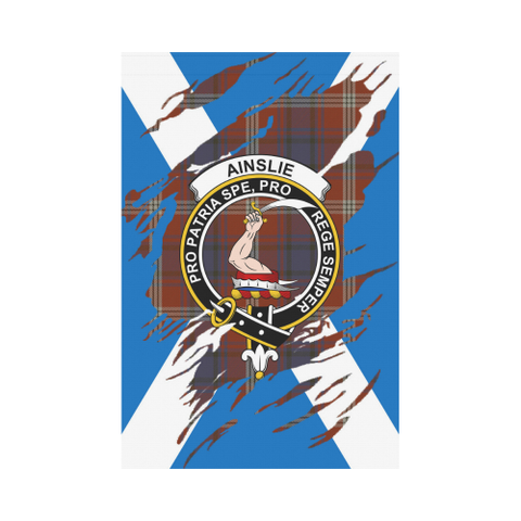 Ainslie Lives In Me Tartan Flag | Scottishclans.co