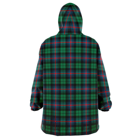 Urquhart Broad Red Ancient Snug Hoodie - Unisex Tartan Plaid Back