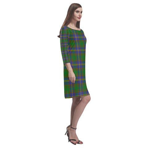 Tartan dresses - Strange Of Balkaskie Tartan Dress - Round Neck Dress TH8