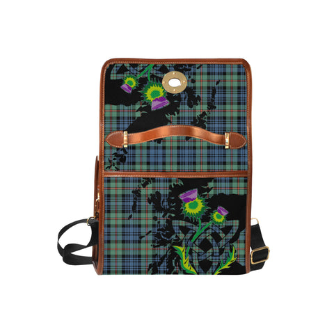 MacKinlay Ancient Tartan Map & Thistle Waterproof Canvas Handbag| Hot Sale