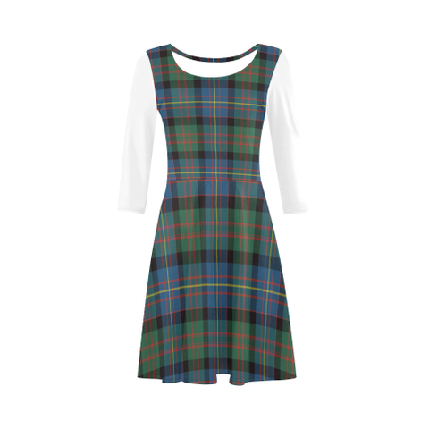 Cameron of Erracht Ancient Tartan 3/4 Sleeve Sundress | Exclusive Over 500 Clans