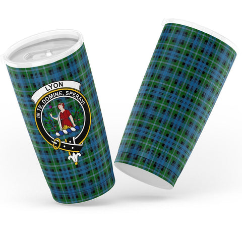 Lyon Tartan Tumbler, Scottish Lyon Plaid Insulated Tumbler - BN