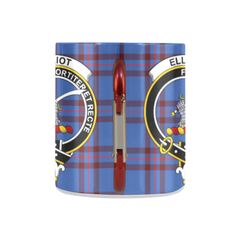 Elliot Modern Tartan Mug Classic Insulated - Clan Badge K7
