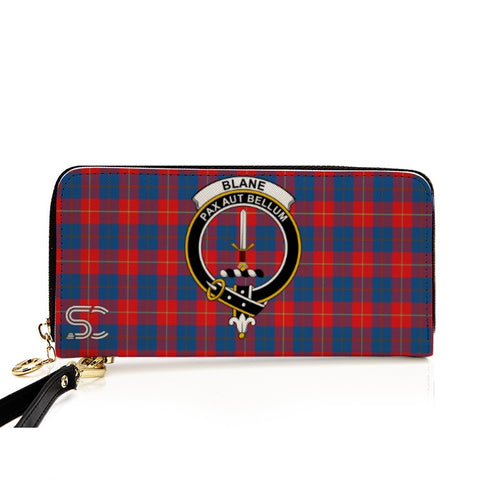 Image of Blane Crest Tartan Zipper Wallet