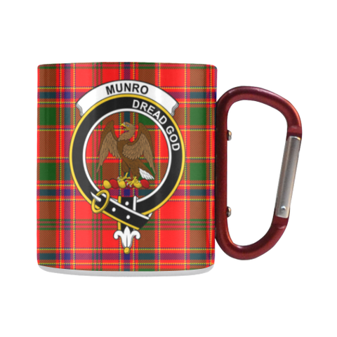 Munro Modern Tartan Mug Classic Insulated - Clan Badge | scottishclans.co