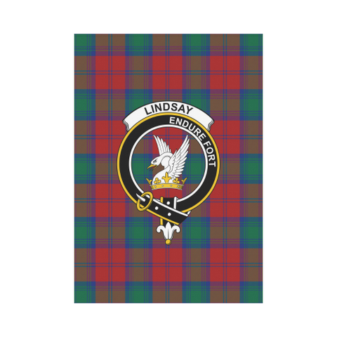 Lindsay Modern Tartan Flag Clan Badge | Scottishclans.co