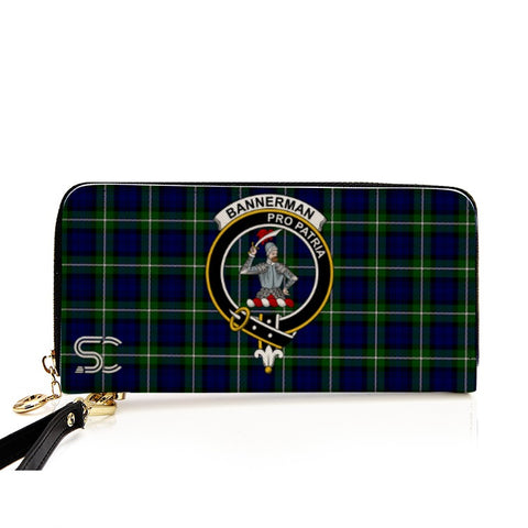 Bannerman Crest Tartan Zipper Wallet