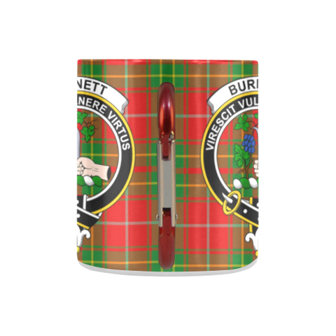 Burnett Ancient  Tartan Mug Classic Insulated - Clan Badge K7