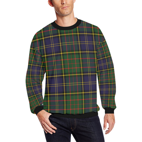 Image of Macmillan Hunting Modern Tartan Crewneck Sweatshirt TH8