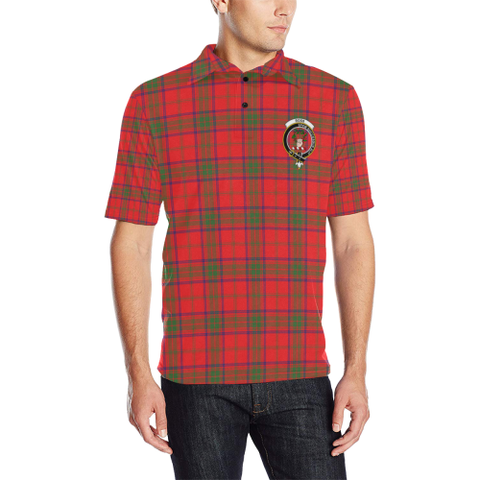 Ross Modern Tartan Clan Badge Polo Shirt