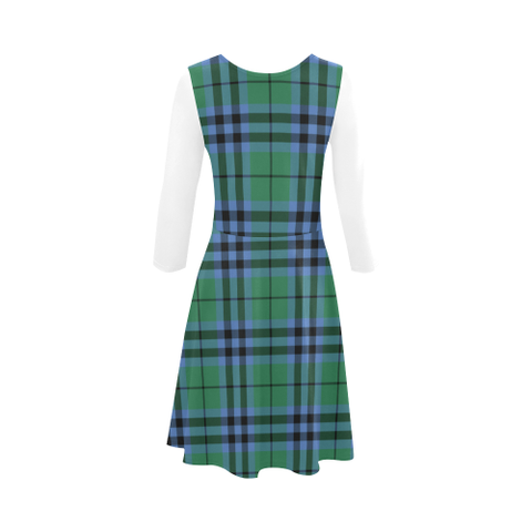 Keith Ancient Tartan 3/4 Sleeve Sundress | Exclusive Over 500 Clans