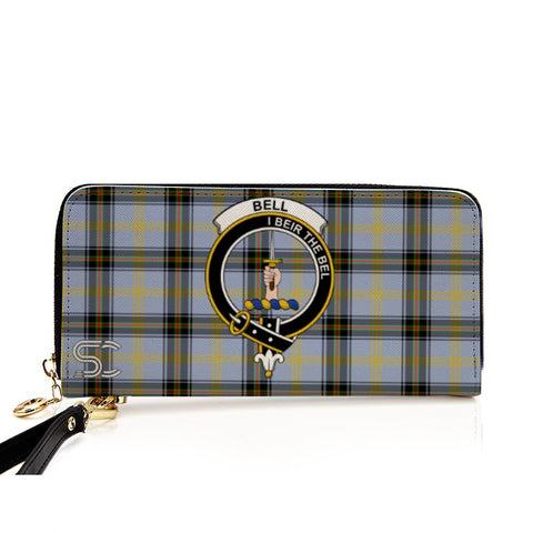Bell Of The Borders Crest Tartan Zipper Wallet