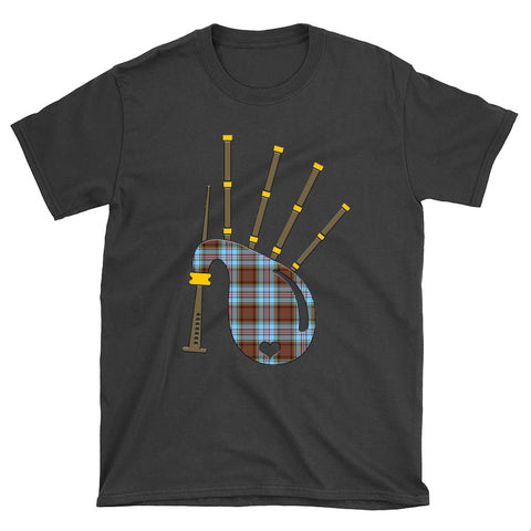 Image of Anderson Ancient Tartan Bagpipes T-Shirt