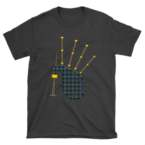 Image of Cameron of Erracht Ancient Tartan Bagpipes T-Shirt