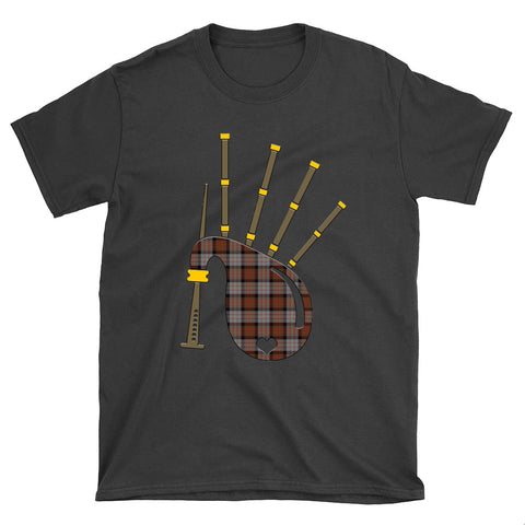 Image of Cameron of Erracht Weathered Tartan Bagpipes T-Shirt