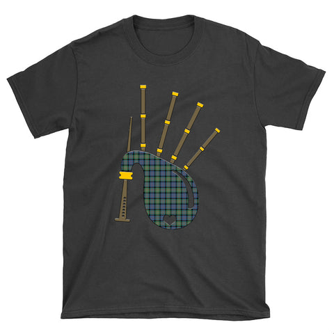 Image of MacDonnell of Glengarry Ancient Tartan Bagpipes T-Shirt