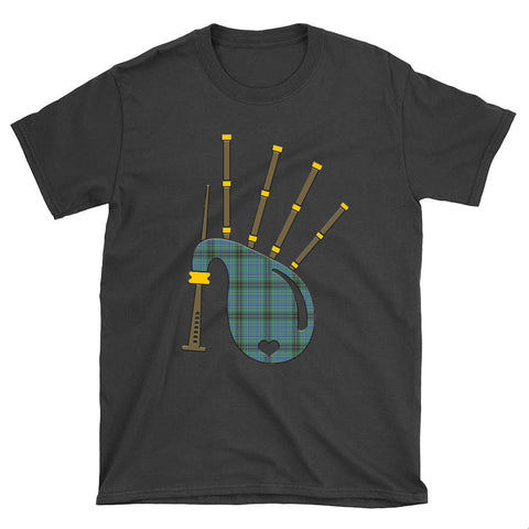 MacInnes Ancient Tartan Bagpipes T-Shirt