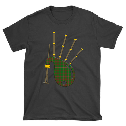 MacKinnon Hunting Modern Tartan Bagpipes T-Shirt