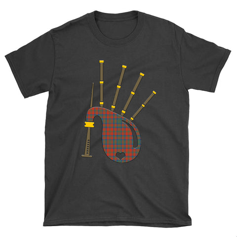 Matheson Ancient Tartan Bagpipes T-Shirt