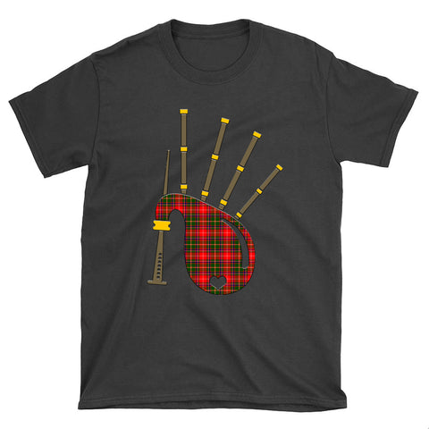 Image of Somerville Modern Tartan Bagpipes T-Shirt