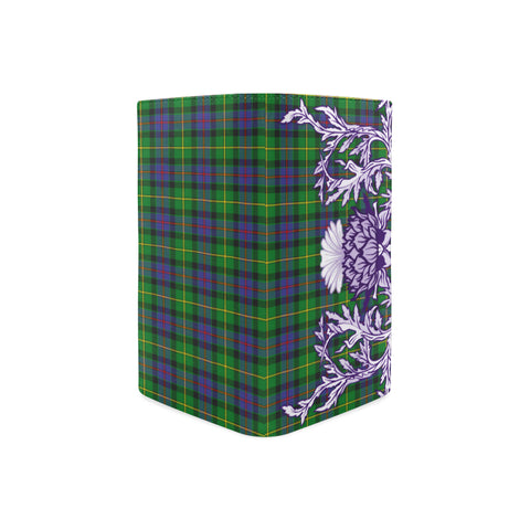 Image of Tait Modern Tartan Wallet Women's Leather Thistle A91