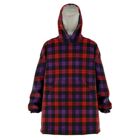 Brown Modern Snug Hoodie - Unisex Tartan Plaid Front