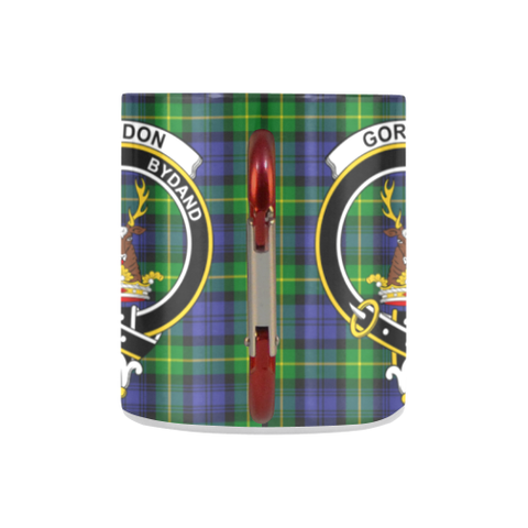 Image of Gordon Modern Tartan Mug Classic Insulated - Clan Badge K7