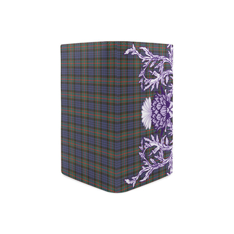 Image of Fletcher of Dunans Tartan Wallet Women's Leather Thistle A91