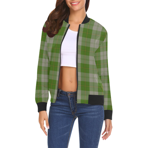 Cunningham Dress Green Dancers Tartan Bomber Jacket | Scottish Jacket | Scotland Clothing
