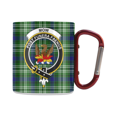 Image of Mow Tartan Mug Classic Insulated - Clan Badge | scottishclans.co