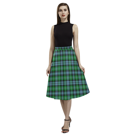 Image of Arbuthnot Ancient  Tartan Aoede Crepe Skirt | Exclusive Over 500 Tartan
