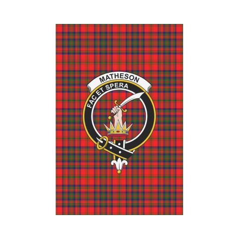 Matheson Modern Tartan Flag Clan Badge K7