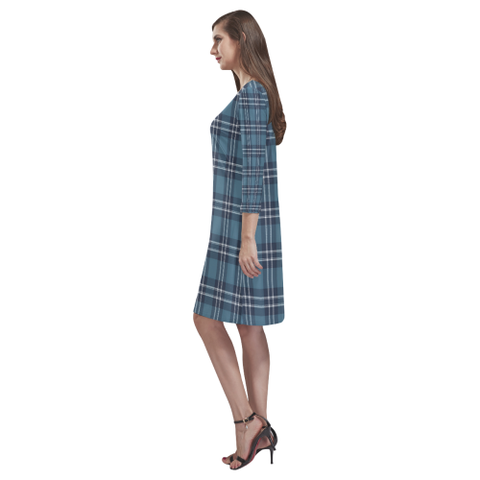 Earl Of St Andrews Tartan Dress - Rhea Loose Round Neck Dress TH8