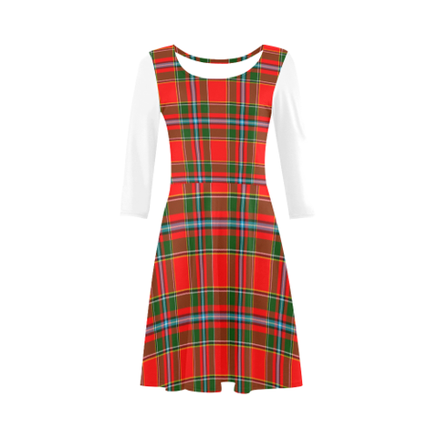 Drummond of Perth Tartan 3/4 Sleeve Sundress | Exclusive Over 500 Clans