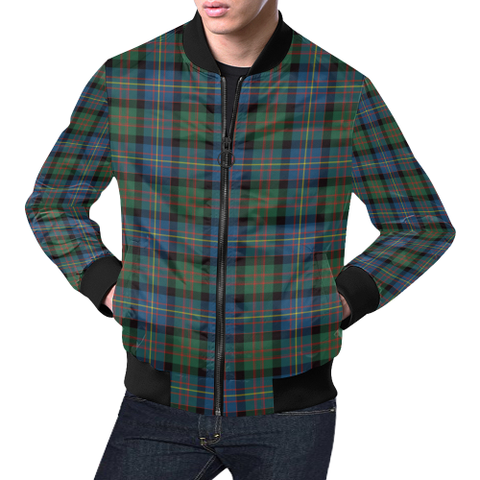 Image of Cameron of Erracht Ancient Tartan Bomber Jacket | Scottish Jacket | Scotland Clothing