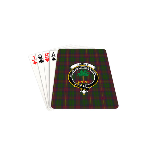 Cairns Tartan Clan Badge Playing Card TH8