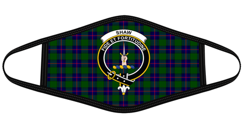 Shaw Modern Clan badge Tartan Mask K7