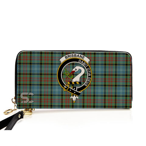 Brisbane Crest Tartan Zipper Wallet